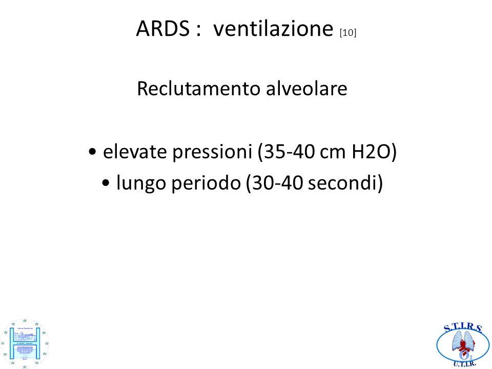 ARDS : ventilazione [10] Reclutamento alveolare
